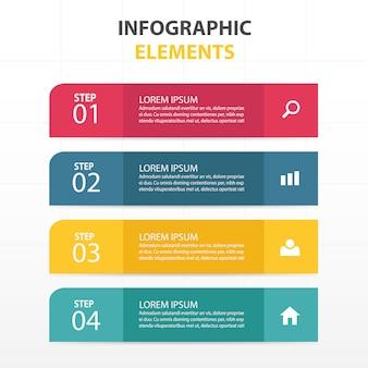 Abstrait coloré modèle infographique d'affaires