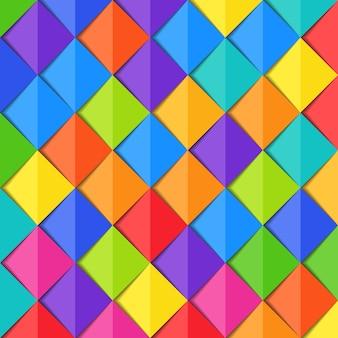 Abstrait coloré avec motif en papier