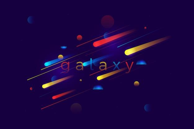 Abstrait coloré mouvement de vitesse de galaxie