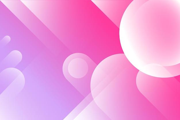 Abstrait coloré à partir de cercles et de lignes de triangles fond dégradé dynamique horizontal