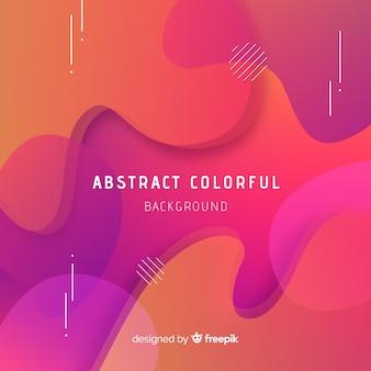 Abstrait coloré avec un style moderne