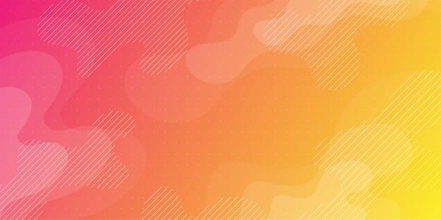 Abstrait coloré utilisant une géométrie minimale en tant qu'élément.