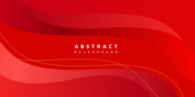 Abstrait coloré vague rouge