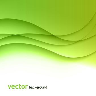 Abstrait coloré vague verte