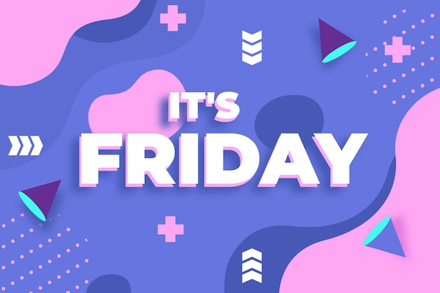 Abstrait coloré vendredi dans le style de memphis