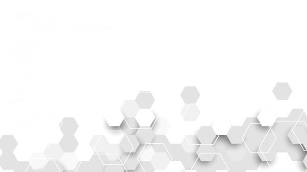 Abstrait composé de cellules hexagonales