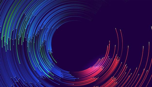 Abstrait composé d'illustration d'arcs colorés.