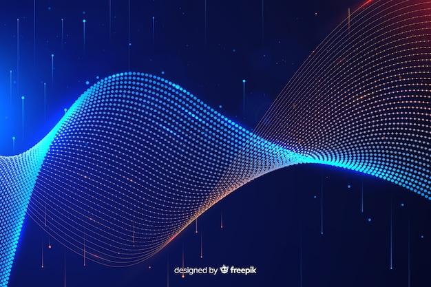 Abstrait concept de données volumineuses
