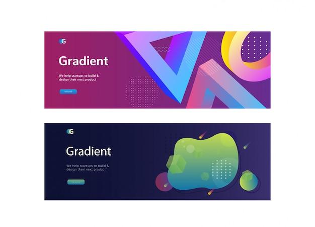 Abstrait de conception de bannière web