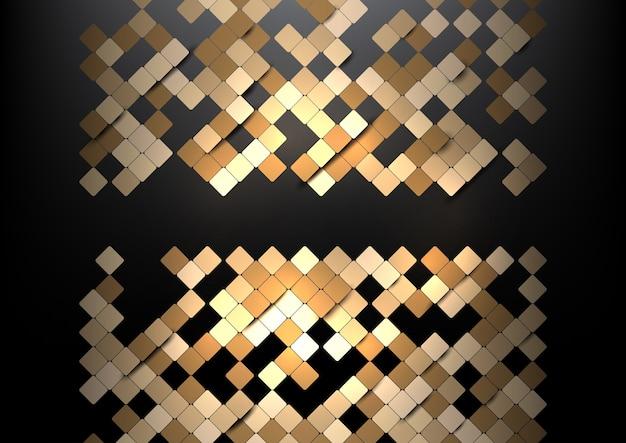 Abstrait avec une conception de carrés géométriques