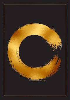 Abstrait avec une conception de feuille d'or décorative