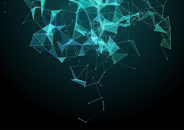 Abstrait avec une conception de réseau de plexus low poly