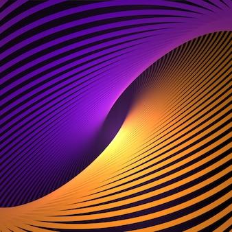 Abstrait cosmique, torsion des lignes de fond. structure nanotechnologique, effets visuels.