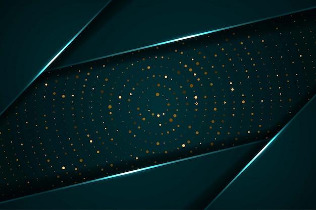 Abstrait couches de chevauchement de lumière sombre avec fond futuriste moderne de cercle