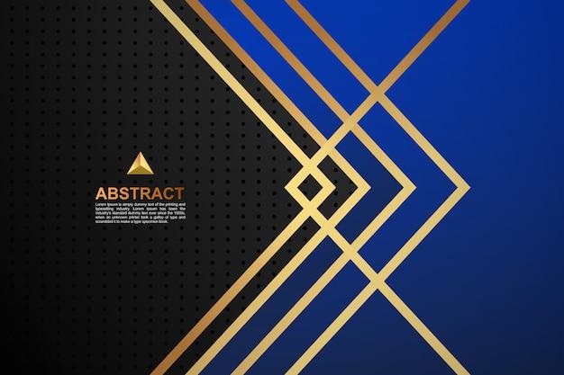 Abstrait couleur bleu géométrique doré
