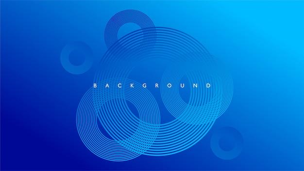 Abstrait avec couleur bleu ligne cercle