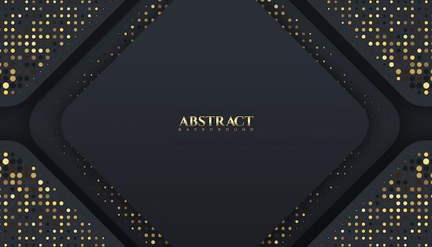 Abstrait de couleur étincelle de luxe sombre et doré. élégant
