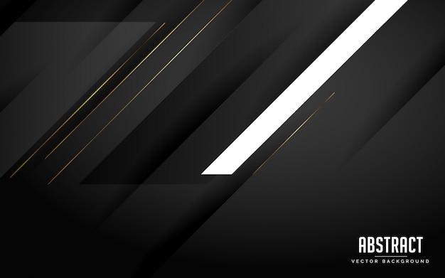 Abstrait couleur géométrique noir et blanc avec des lignes modernes