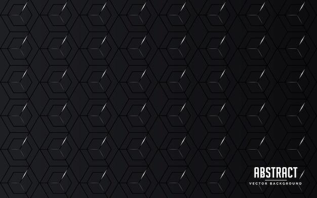 Abstrait couleur géométrique noire et couleur grise moderne