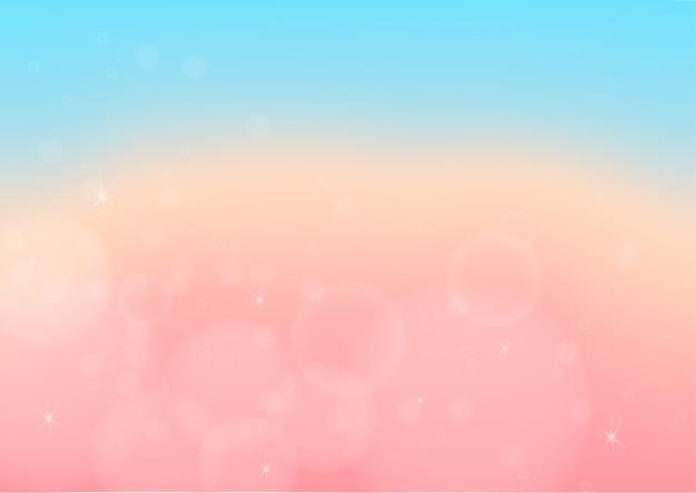Abstrait de couleur pastel avec bokeh