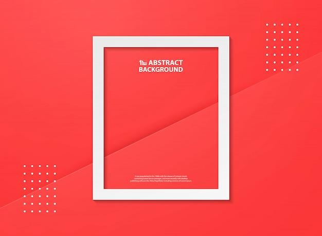 Abstrait couleur rouge dégradé avec fond blanc flamme