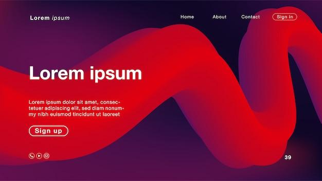 Abstrait couleur violet et rouge pour la page d'accueil
