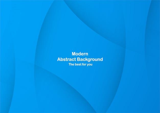 Abstrait de la courbe bleue avec espace copie de texte blanc.