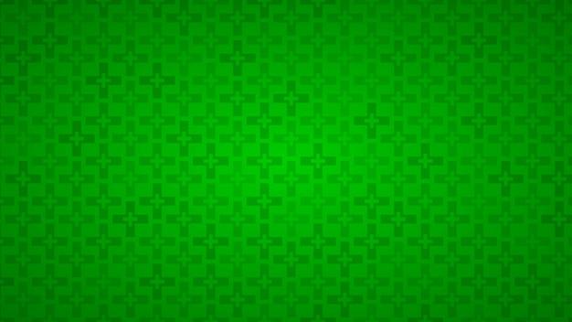 Abstrait de croix dans les tons de vert