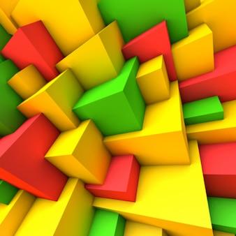 Abstrait avec des cubes colorés