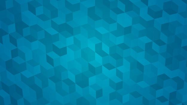 Abstrait de cubes isométriques dans des couleurs bleu clair.