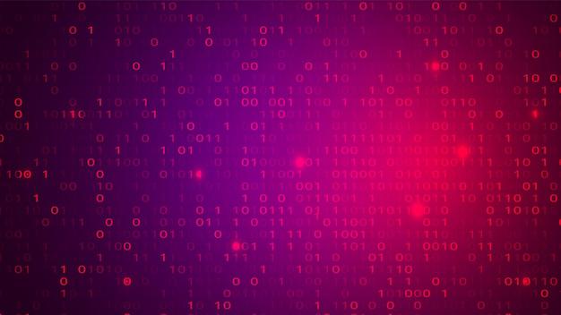 Abstrait cyberespace rouge et violet