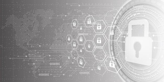 Abstrait sur la cybersécurité et la protection de l'information ou du réseau.