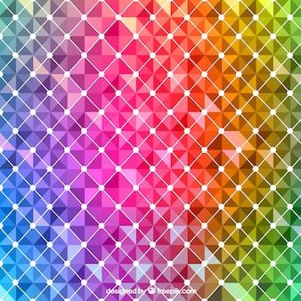 Abstrait dans les couleurs de l'arc-en-ciel