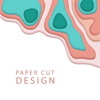 Abstrait dans le style de l'art papier.
