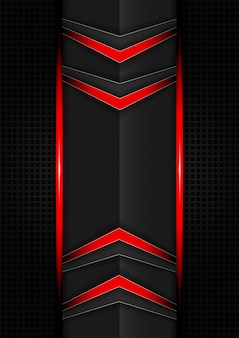 Abstrait de flèches tech rouge et noir