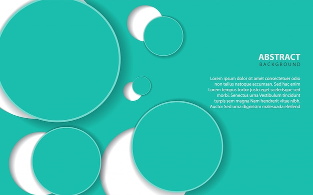 Abstrait avec décoration de couches de cercle bleu