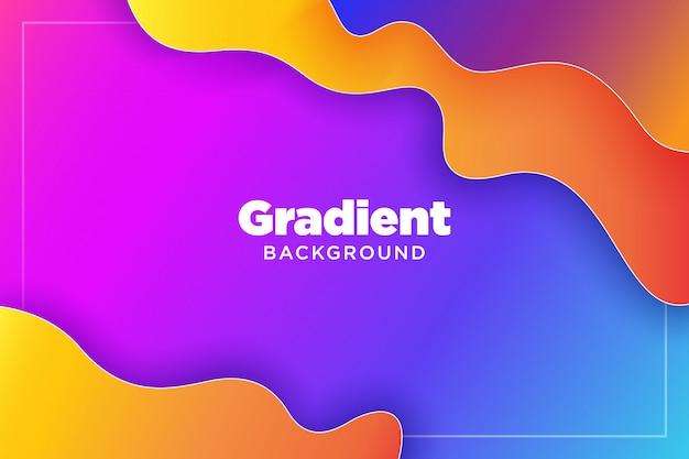 Abstrait dégradé coloré 3d illustration art liquide papier