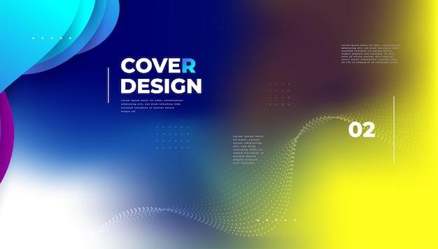 Abstrait dégradé coloré flou. arrière-plan moderne lisse et coloré, adapté aux pancartes, bannières, présentations, couvertures et rapports