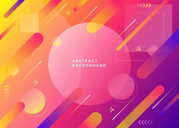 Abstrait Dégradé Coloré Vecteur Premium