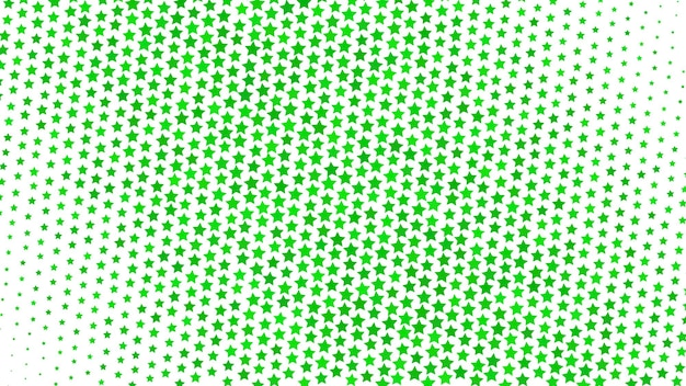 Abstrait dégradé demi-teinte de petites étoiles, vert sur blanc