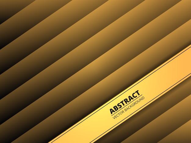 Abstrait dégradé géométrique doré. moderne.