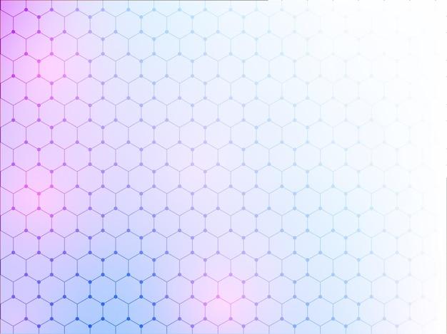 Abstrait dégradé hexagonal.