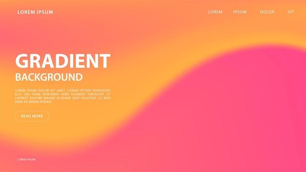 Abstrait dégradé vibrant dans les tons rad et orange. pour la conception graphique colorée, modèle de conception de mise en page pour la brochure.