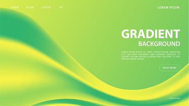 Abstrait dégradé vibrant dans les tons verts. pour la conception graphique colorée, modèle de conception de mise en page pour la brochure.