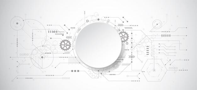 Abstrait design 3d avec la technologie point et ligne