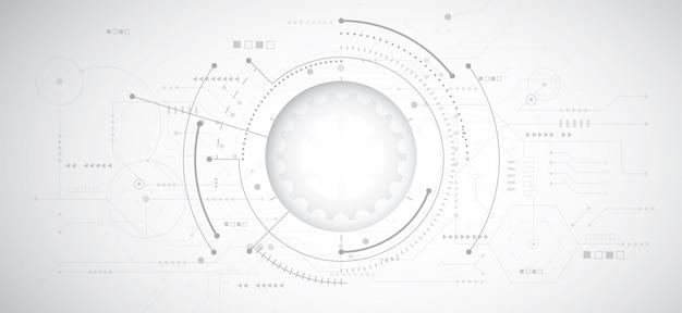Abstrait design 3d avec la technologie