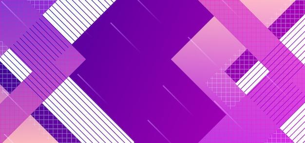 Abstrait design, affiche lumineux, couleurs pourpre ultra violet de la bannière