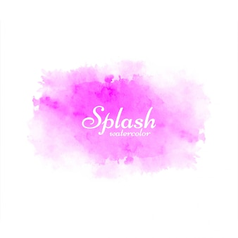 Abstrait design aquarelle rose splash