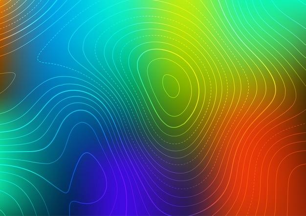 Abstrait avec un design de carte de contour