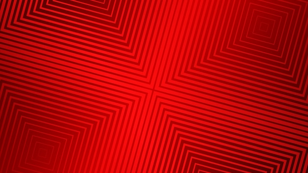 Abstrait avec un design géométrique en demi-teinte de couleur rouge